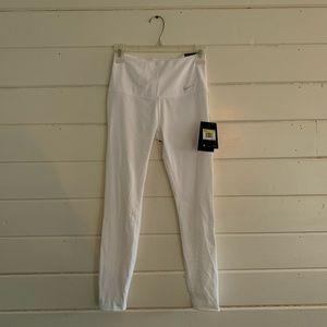 Nike white athletic leggings size small